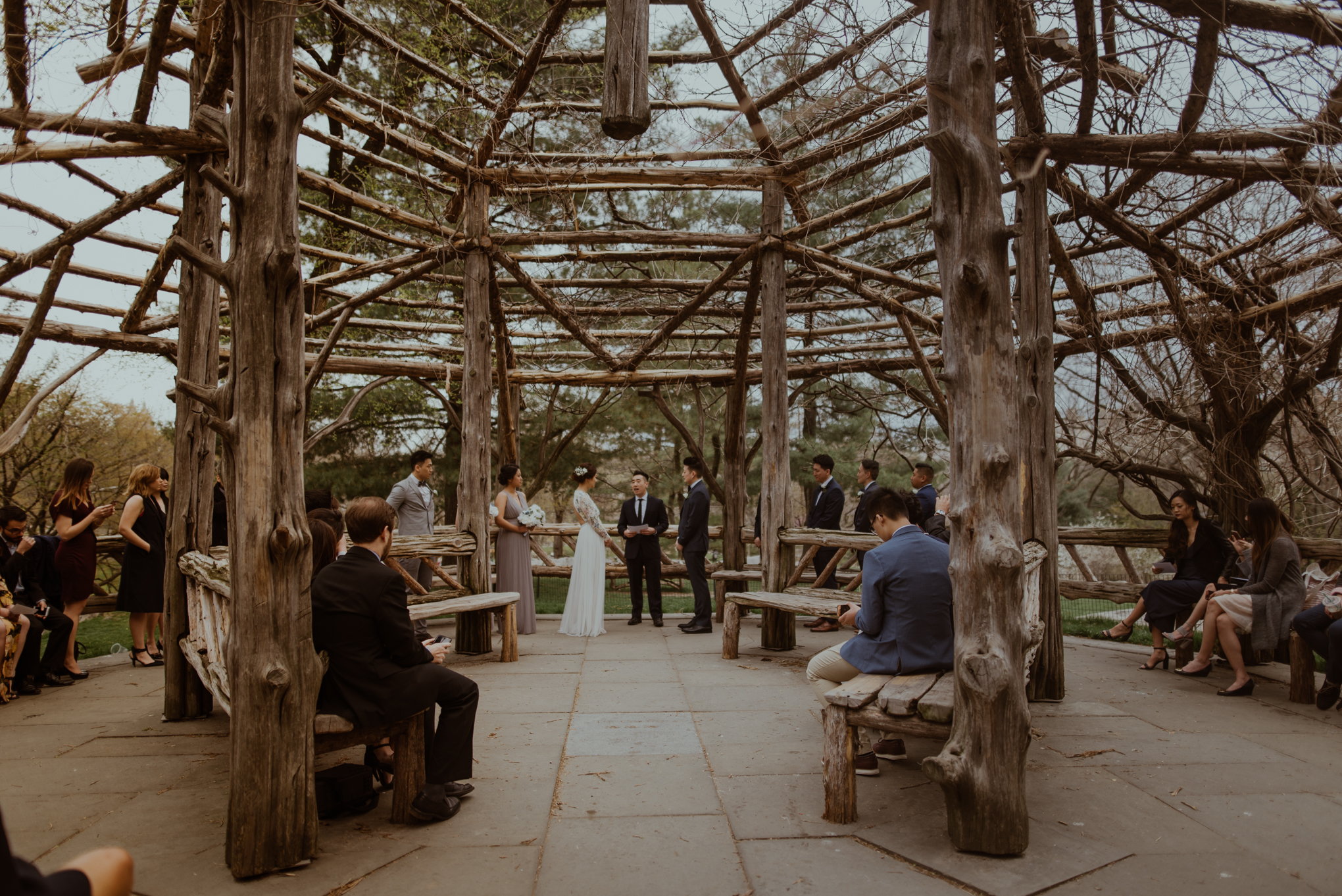 Central Park bride and groom eloping in NYC Need and Thread London